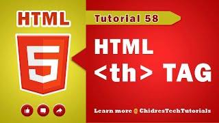HTML video tutorial - 58 - html th tag