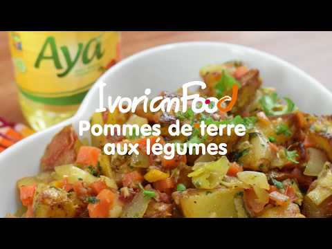 @ivorianfood- -pomme-de-terre-aux-légumes-!