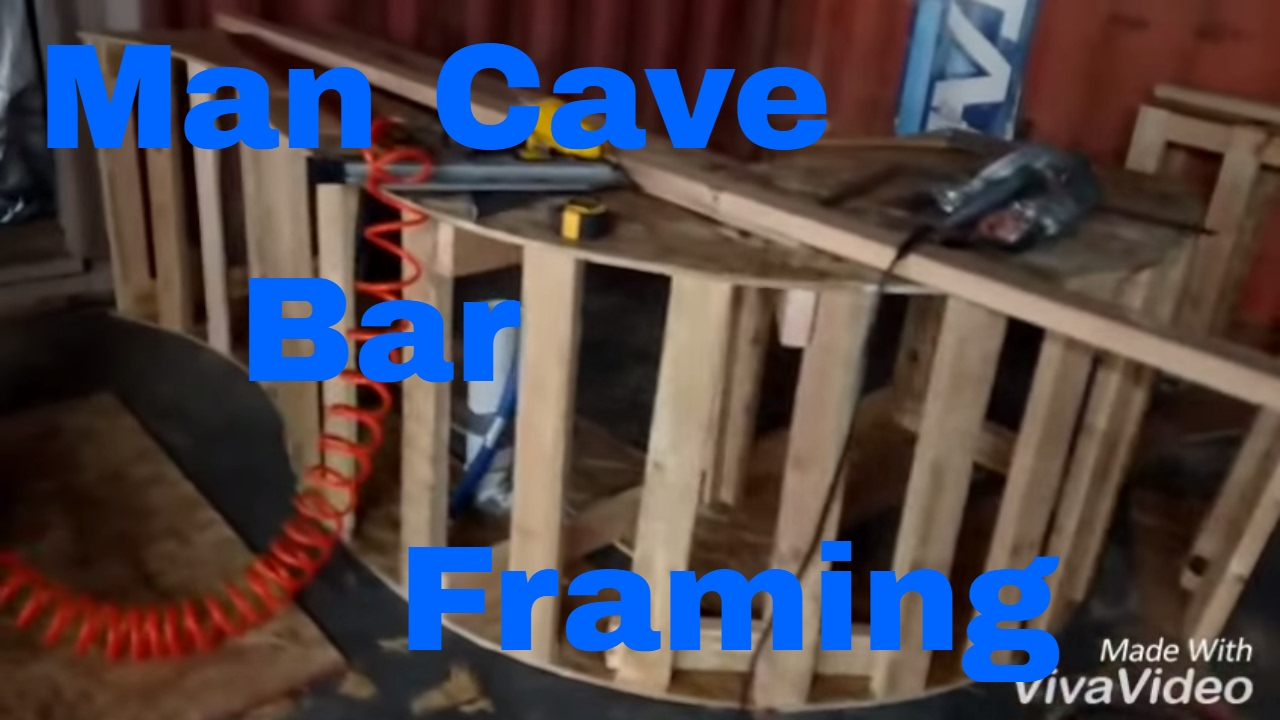 Make A Man Cave Bar (framing). Rough Carpentry. DIY