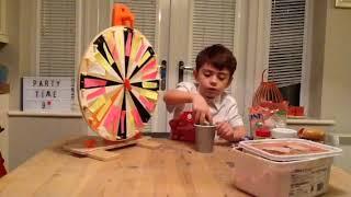 Mystery wheel of ice cream sundae challenge