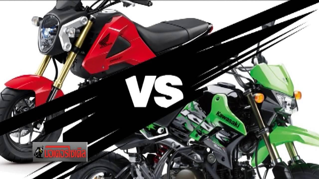 2015 Honda Grom >> KSR + Z125 vs MSX125 KAWASAKI ท้าชน HONDA - YouTube