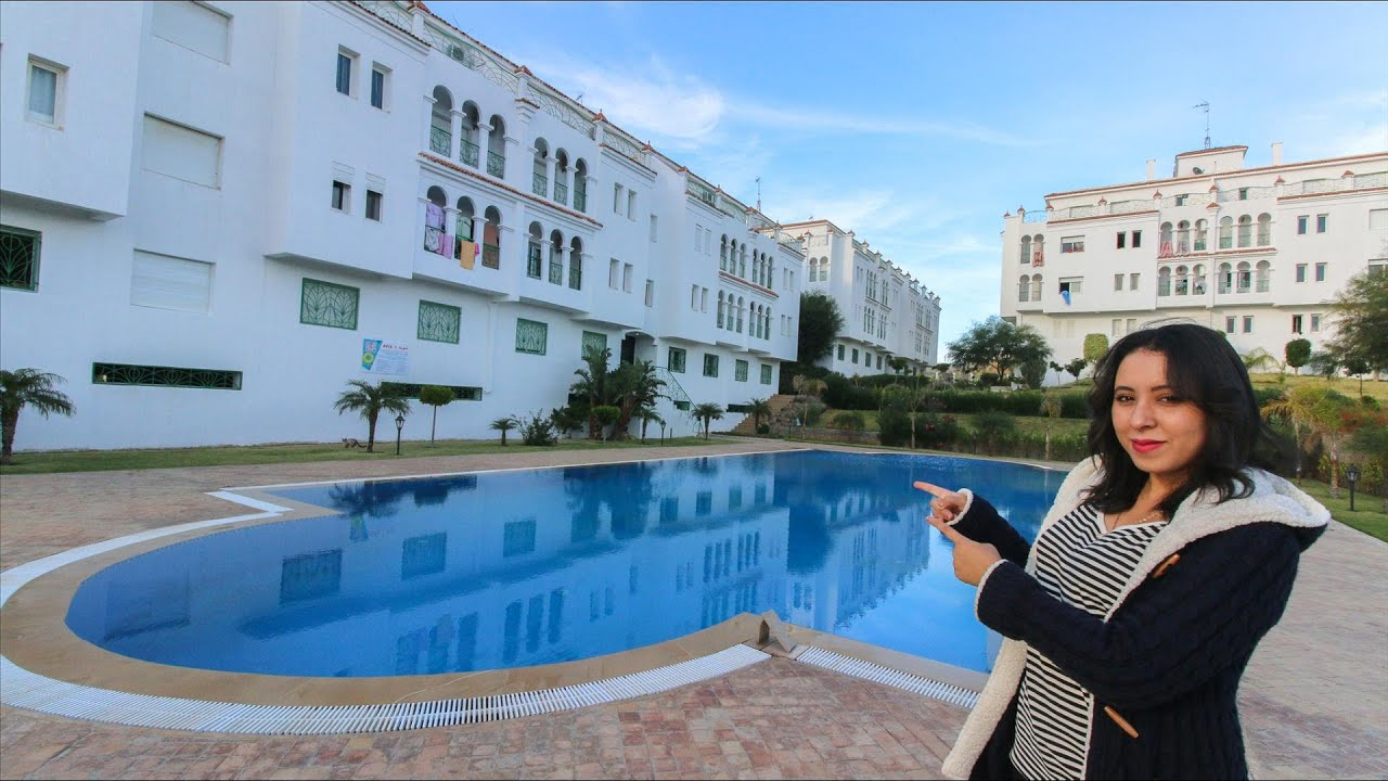 لؤلؤة طنجة شقة للصيف والشتاء بحرية وبإطلالة كالسحر على المسبح 😉 ستنبهر بما ستراه