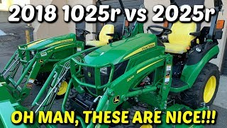 The NEW John Deere 1025r vs 2025r Feature Review