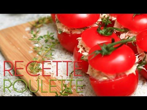 Tomates cerises farcies au thon
