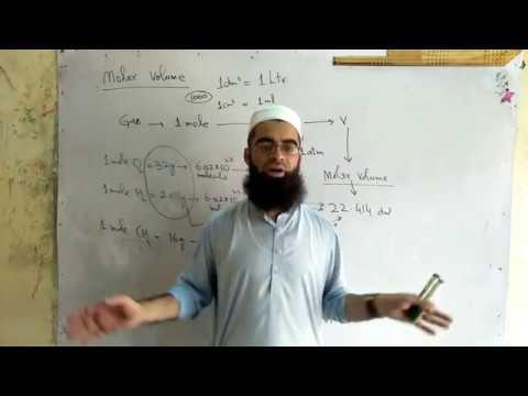 molar volume of a gas in urdu Chemistry FSc Part 1