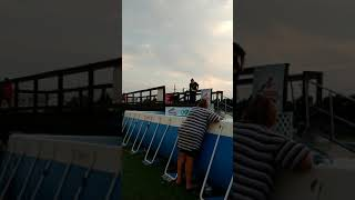 Chesapeake Bay Retriever at Dock diving classK9 Manners and More