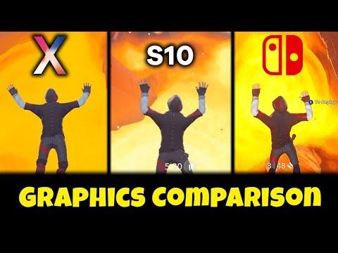 Fortnite: Galaxy S10 Vs Nintendo Switch Vs IPhone X Graphics Comparison