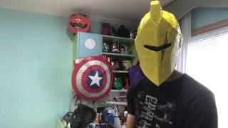 Fortnite Ultima Knight Costume Making Ultima Knight Origin Helmet From Fortnite Season X Youtube