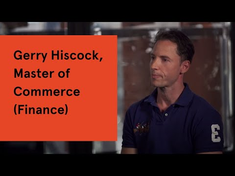 Gerry Hiscock, Master of Commerce (Finance)