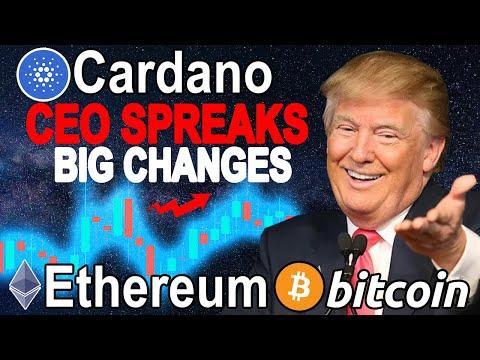 Cardano (ADA) HOSKINSON Speaks Out ! Ethereum (ETH) Huge FEES ! Bitcoin (BTC) Big BULL RIDE !