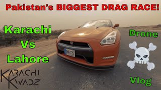 Biggest STREET RACE in Pakistan, GTR EVO RX7 Karachi Vs. Lahore, FPV Karachi Quads, FPV Pakistan