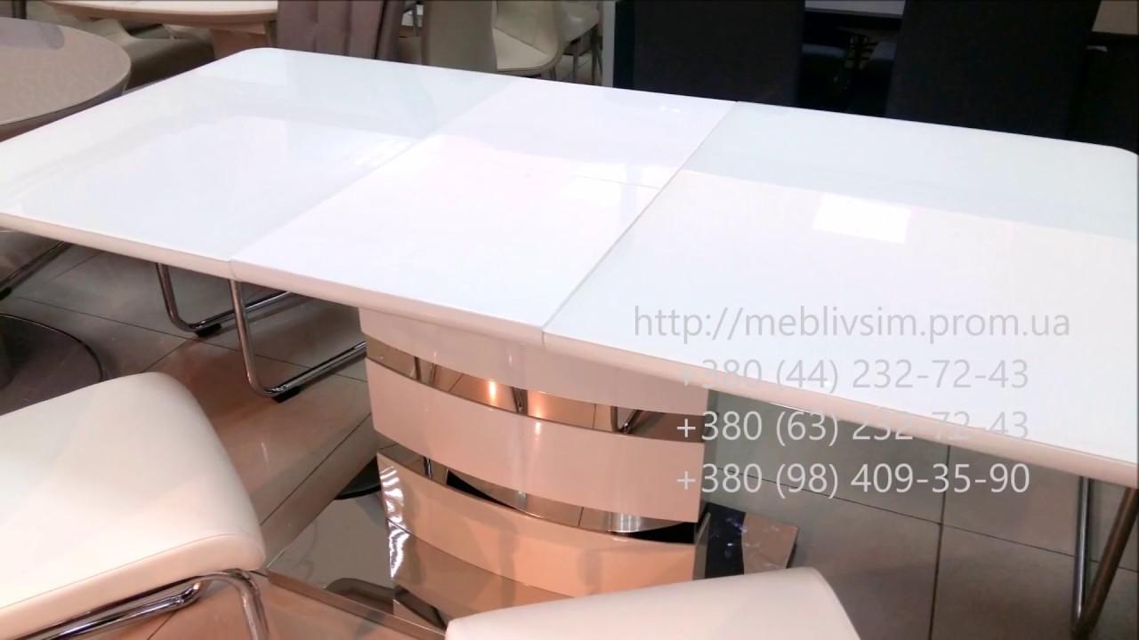 Белые столы для дома и офиса. Стол обеденный DETROIT (Детройт .