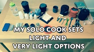 Solo Cook Sets For Hiking, Bushcraft & Camping - Medium and Light Weight Options