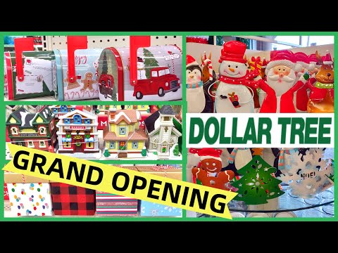 NEW DOLLAR TREE GRAND OPENING SHOP WITH ME | NEW CHRISTMAS ITEMS 11-4-19