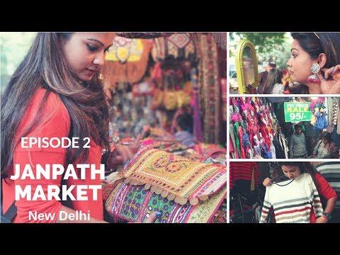 Janpath Market New Delhi   Cheap Street Shopping Guide  Jhumka, Bags, Clothes, Kurti, Food