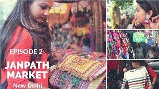 Janpath Market New Delhi | Cheap Street Shopping Guide| Jhumka, Bags, Clothes, Kurti, Food