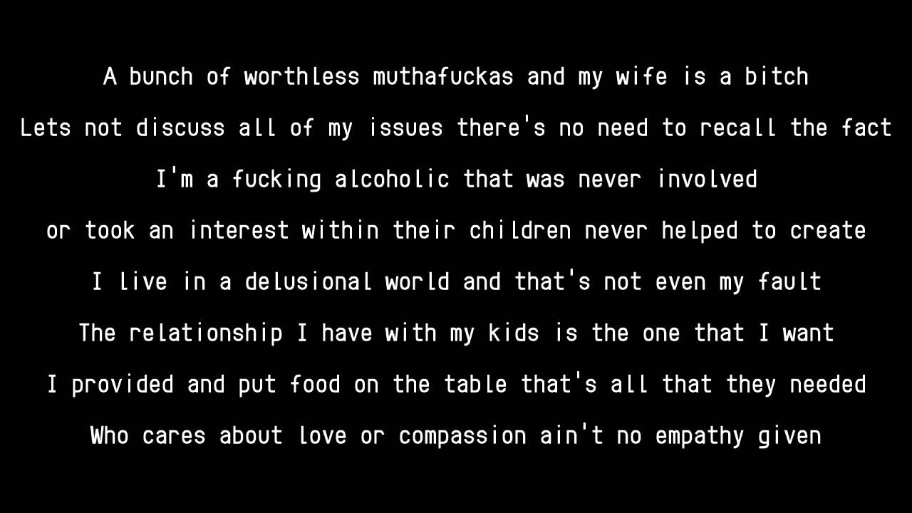 A fucking alcoholic lyrics