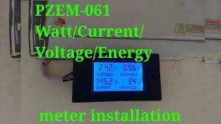PZEM-061 Watt/current/voltage/energy meter installation