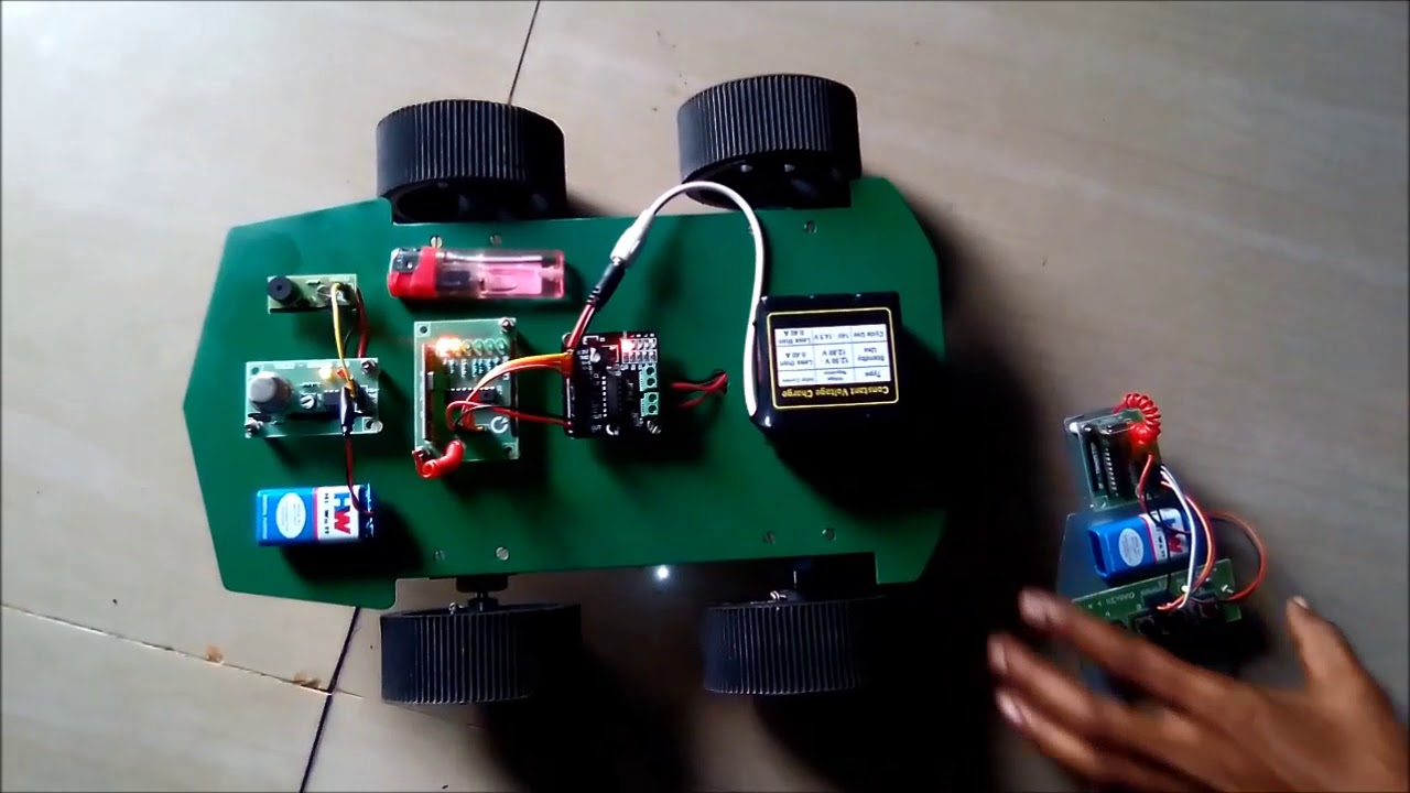 Robotics Project Ideas Rf Controlled Lpg Gas Sensing Robot Hi Tech