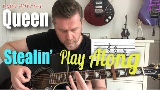 Queen Stealin Guitar Play Along - Chords and Tabs