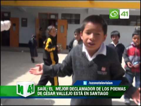 El Mejor Declamador De Los Poemas De César Vallejo Está En Santiago De Chuco Youtube