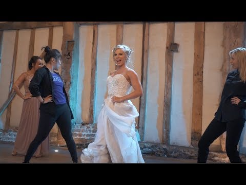 Best First Dance EVER - Dancer Bride Shocks Husband With Her Moves!
