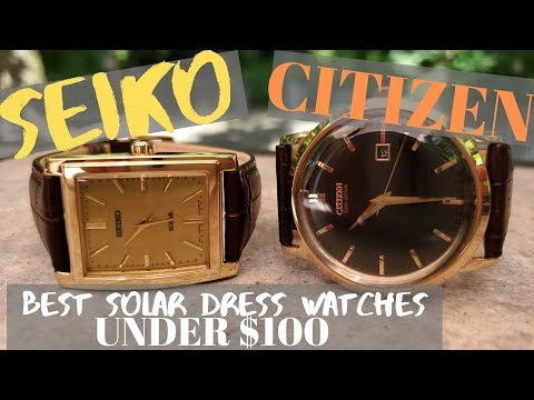 Seiko Vs Citizen 2 Great Solar Dress Watches    Giveaway #2!