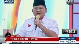 [Debat Capres 2014] Politik Internasional dan Ketahanan Nasional (4)