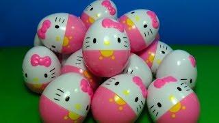 18 Hello Kitty surprise eggs!!! HELLO KITTY  fof kids MymillionTV
