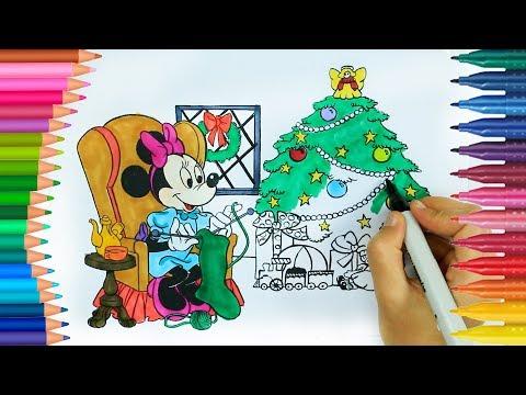 Mini Tikus Permainan Mewarnai Natal Buku Mewarnai Tangan Kecil