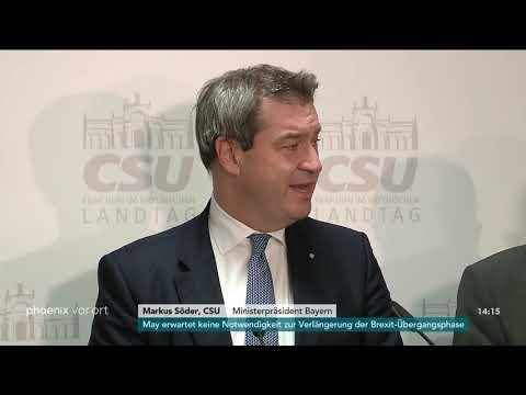 Statements der CSU zur  Einigung auf Koalitionsverhandlungen mit den Freien Wählern am 18.10.18