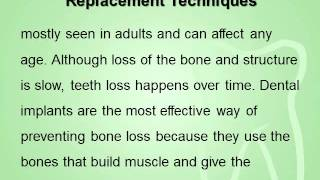 Cosmetic Dentistry Discusses Bone Replacement Techniques Thumbnail
