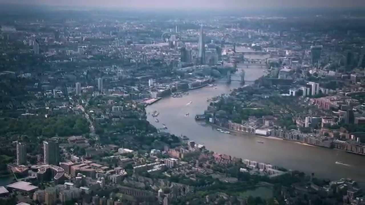free london aerial stock