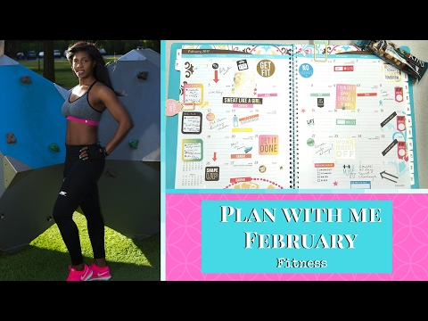 PLAN WITH ME FITNESS PLANNER || February