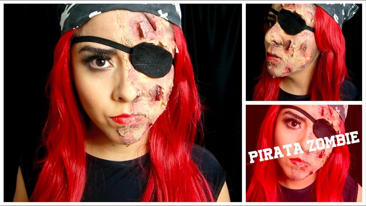 pirata zombie maquillaje