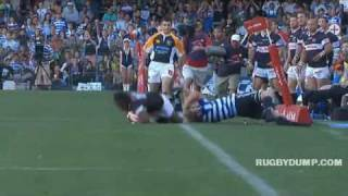 Duane Vermeulen smashed by Andries Strauss then catches Lwazi