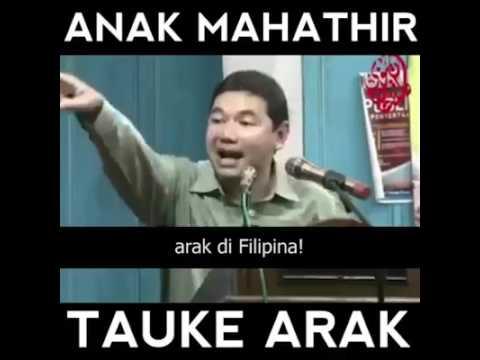 [VIDEO] ANAK MAHATHIR TAUKEH ARAK KATA RAFIZI RAMLI