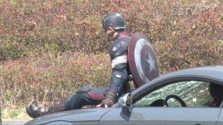 Repeat youtube video [SSTV] '어벤져스2'(The Avengers2) 크리스 에반스(Chris Evans), '캡틴 아메리카' 상암 촬영 현장