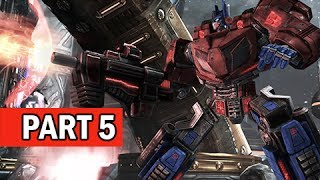 Transformers Rise of the Dark Spark Walkthrough Part 5 - Catch the Train (PS4 Gameplay Commentary)