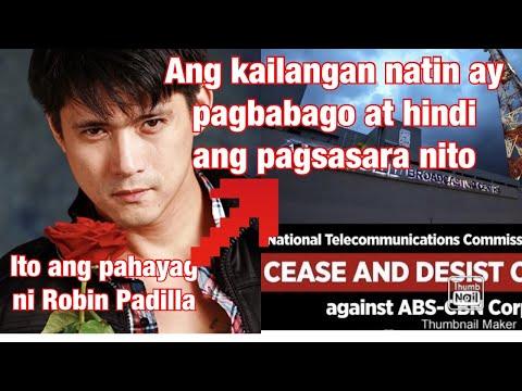 Robin Padilla humihingi ng tsansa sa ABSCBN nga makapag ere uli para malaman ang update ng balita