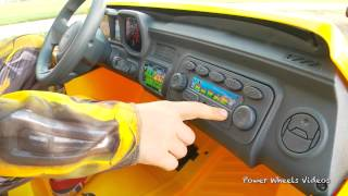 kid motorz yellow camaro unboxing and review
