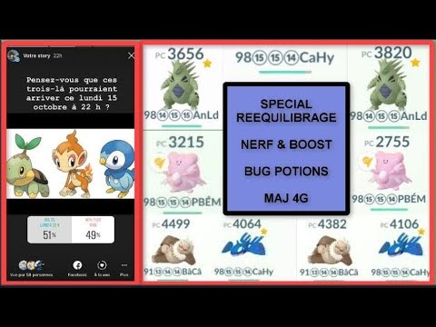 pokemon go 132 vid o sp ciale bug r quilibrage nerf boost 4g imminente youtube. Black Bedroom Furniture Sets. Home Design Ideas