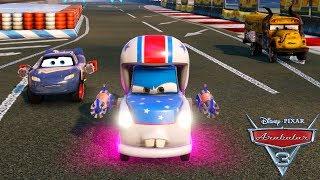 Tehlikeli Yarış Şimşek, Çekici Mater ve Jackson Storm Yarışıyor (Cars 3: Driven to Win)