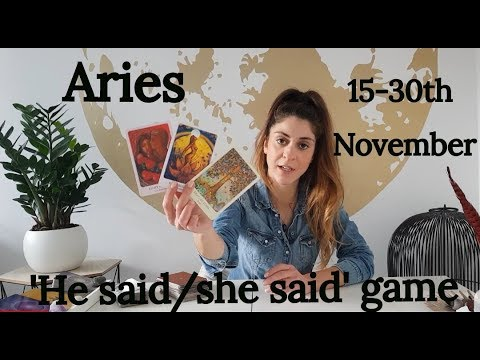 ARIES - ' THIS FEELS LIKE A PAYBACK' 15-30th November Tarot Love and relationships reading