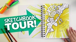 Sketchbook Tour! | FIST BUMPS, DINOSAURS, & PRINCESSES | #17