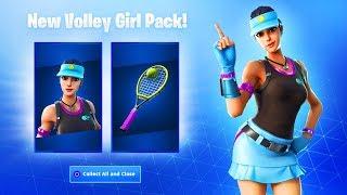 The New VOLLEY GIRL SKIN Bundle in Fortnite!