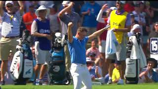 Matt Wallace drains hole in one at PGA Champ - then, THROWS THE BALL AWAY!