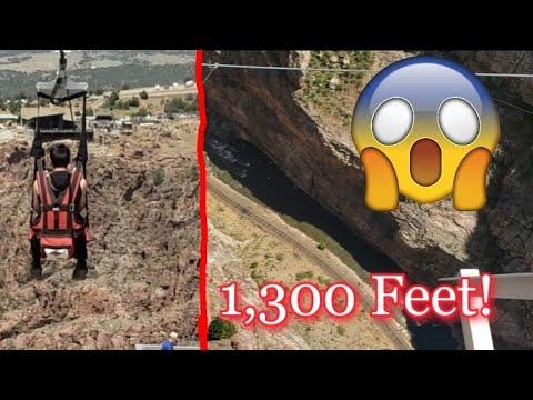 Dangling 1300 feet above the ground!!! (Ziplining) | Vlog #2
