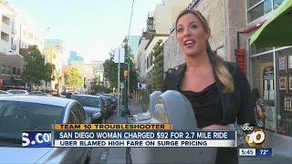 Woman charged $92 for 2.7-mile Uber ride
