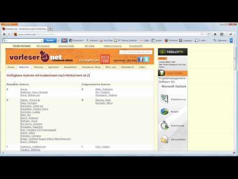 Vorleser.net - Kostenlose MP3 Hörbücher downloaden